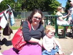 Karen Bruce and Esme in Wetherby
